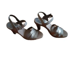 Aerosoles Womens Open Toe Heels Gold Size 8M